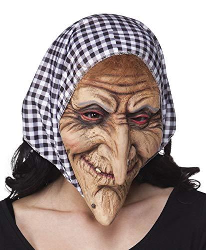 Katze Sehr Einfache Kostüm - Boland 97508 Maske Hexe mit Kopftuch Latex Vollmaske Hexenmaske