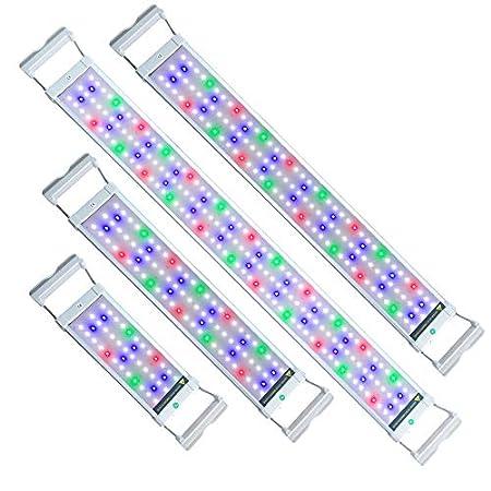 UISEBRT LED Aquarium RGB Beleuchtung 6W – Aquarium Pflanzen Lampe mit Verstellbarer Halterung für 30cm-50cm Aquarium (6W…