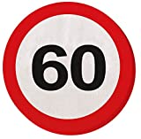 60. Geburtstag 20Papier Servietten Verkehrsschild Alter Party