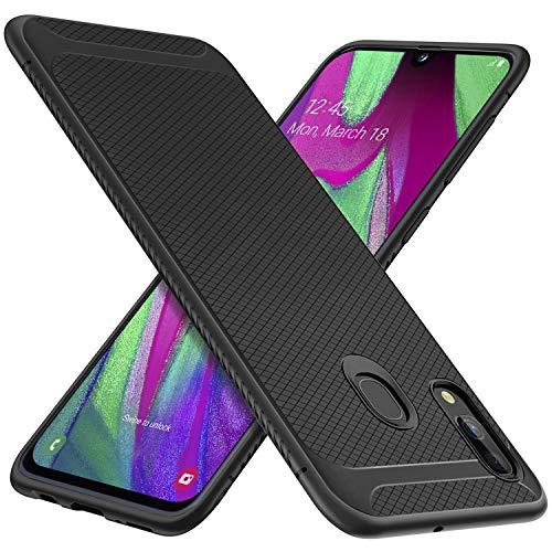 iBetter Per Samsung Galaxy A40 Cover, Thin Fit Gomma Morbida Protettiva Cover, Protezione Durevole,per la Samsung Galaxy A40 Smartphone.(Nero)