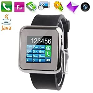 Gadget et Gift Ltd J2 Noir, Java / Bluetooth / FM Radio Watch Phone avec appareil photo, 1.5 inch TFT Ecran Tactile Phone, Built in A-GPS, Single SIM Card, Quad bet, Network: GSM850/900/1800/1900MHz