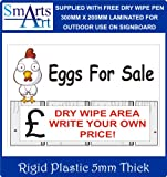 Smarts-Art EGGS FOR SALE sign 300mm x 200mm free pen (300mm x 200mm)