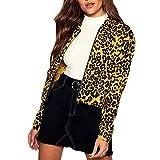 TianWlio Mäntel Frauen Herbst Winter Weihnachten Damen Mantel Leopard Drucken Baseball Bluse Reißverschluss Mäntel Jacke Bluse