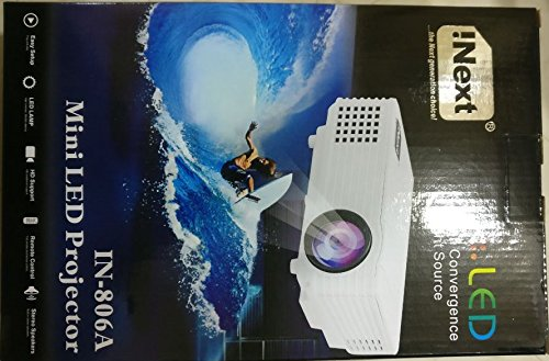 Full HD LED 2000 Lumens Theater Quality Projector (White or Black)