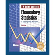 Elementary Statistics: A Brief Version with CD and Minitab Release 12 with User Guide