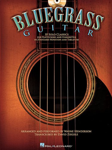Bluegrass Guitar: 10 Solo Classics (Book and CD) (Book & CD)