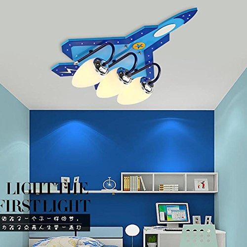 HAIYUANNAN Flugzeug Hängeleuchte, Kinder Deckenlampe, Sektionaltyp Schalter, Bunte Licht ändern, 3pcs / 4pcs E14 Lampe, 3 Heads