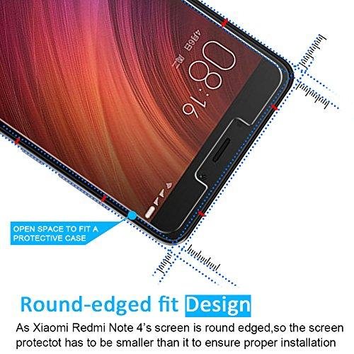 [3 Unidades] Protector de Pantalla Xiaomi Redmi Note 4 / Note 4X iVoler Cristal Vidrio Templado Premium Para Xiaomi Redmi Note 4 / Xiaomi Redmi Note 4X [9H Dureza] [Alta Definicion 0.2mm] [2.5D Round Edge]