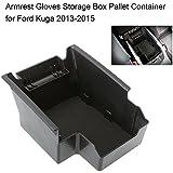 KKmoon Caja de Almacenamiento Coche Contenedor, Guantes Brazo Consola Paleta para Ford Kuga 2013-2015