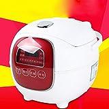 DHG Mini Reiskocher 1.6L Intelligente Mode Buchung Kleiner Reiskocher,Weiß
