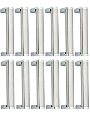 Smart Shophar Stainless Steel Cabinet Handle Galaxy 8 Inches Silver Pack of 12 Pieces