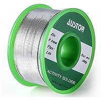 Austor 0.6mm la soldadura libre de plomo de alambre con núcleo de fundente, SN 99% AG 0,3% Cu un 0,7%, 100g