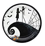 AMSCAN Nightmare Before Christmas 9' Round Paper Plates, 8-Pack