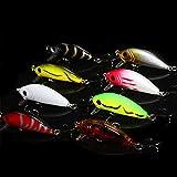 WDDDYYE Esche da Pesca/8 Pz/Lotto Top Water Fishing Lure 4.5 Cm 4.1G Artificiale Esca Dura Wobbler Spinner Mini Manovella Esca Pesca alla Carpa, 8 Pz