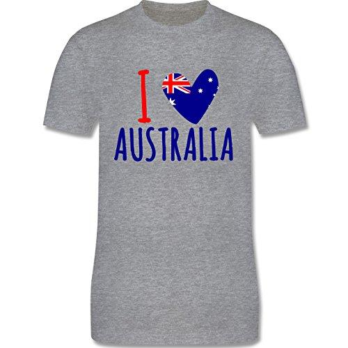 I love - I love Australia - Herren Premium T-Shirt Grau Meliert