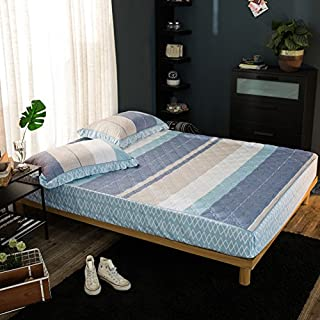 FHFGHYURBNYFGHFBY Baumwoll-gepolsterte Bett mit einzelstück/Baumwoll-gepolsterte tagesdecke/schutzhülle für die Abdeckung von Kindern/Haushalt/bettwäsche-R 150x200cm(59x79inch)