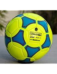 Lionstrike - Pallone da calcio, leggero, in cuoio, misura 4, Giallo