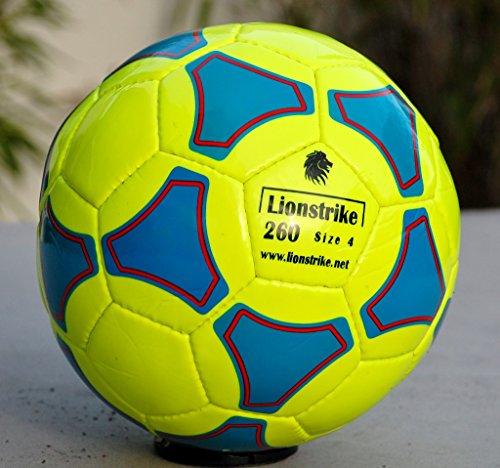 Lionstrike leichter Lederfußball Größe 4 (Gelb)