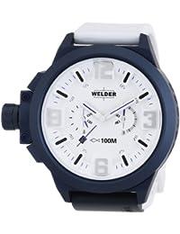 Welder K22 - Reloj cronógrafo unisex de cuarzo con correa de goma blanca