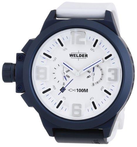 Welder - K22 901 - Montre Mixte - Quartz Chronographe - Bracelet Caoutchouc Blanc