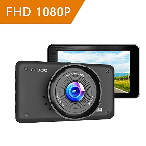 Dashcam Auto Camera Dash Camera Auto Dash  Cam Camera voor in de auto Mibao FHD 1080P met 170° groothoeklens, loopopname, G-sense, parkeermonitor, 3 inch LCD, WDR, 6G lens, bewegingsdetectie