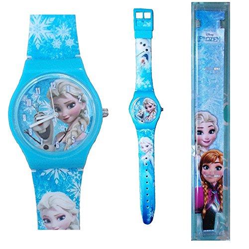 STAR LICENSING Armbanduhr Analog Frozen ELSA Anna Olaf Kinder Disney cm 25 - 35830CELESTE