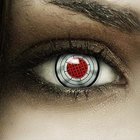 Farbige rot graue Kontaktlinsen
