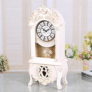 SESO UK- Reloj retro europeo del ritmo de la manta / del mantle de la vendimia con el movimiento del péndulo de SESO UK