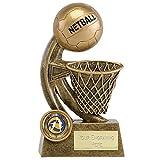 14cm netball Trophy net e sfera con incisione fino a 30lettere