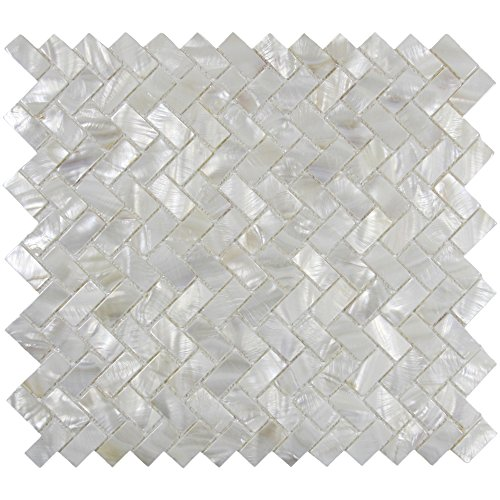 Vogue Tile ECHTE Mutter von Pearl Oyster Herringbone Shell Mosaik Fliese für Küche backsplashes, das Badezimmer, Spas, Pools