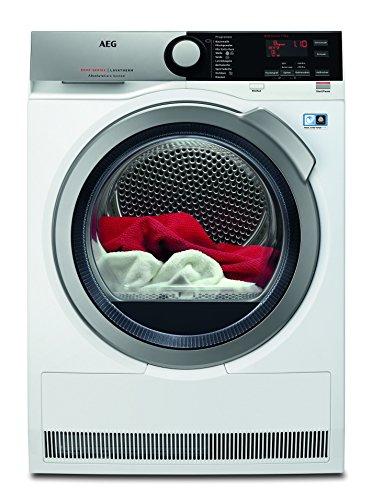 AEG T8DE76684 Wärmepumpentrockner/Energieklasse A+++ (177 kWh pro Jahr)/8 kg/kein Einlaufen der Wäsche/sparsamer Wäschetrockner mit Wärmepumpe und Kindersicherung/weiß