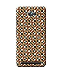 Be Awara Circle Pattern Marble Back Cover Case for Asus Zenfone Max