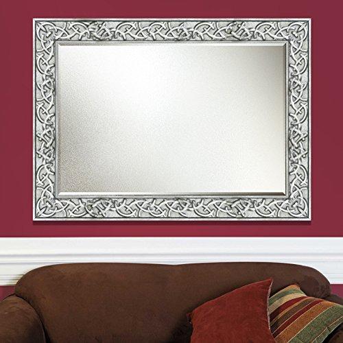 Elegant Arts & Frames Antique Silver Wall Decorative Wood Mirror 36 inch x 24 inch