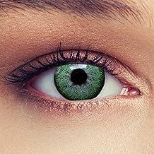"""Lentillas de color verde natural de tres meses sin dioprtías / corregir + gratis caso de lente """"Natural Green"""""""