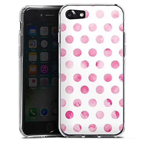 Apple iPhone X Silikon Hülle Case Schutzhülle Punkte Frühling Pink Silikon Case transparent