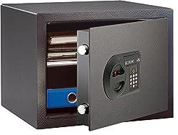BURG-WÄCHTER Möbeltresor mit elektronischem Zahlenschloss, Sicherheitsstufe B, HomeSafe H 1 E, Schwarz