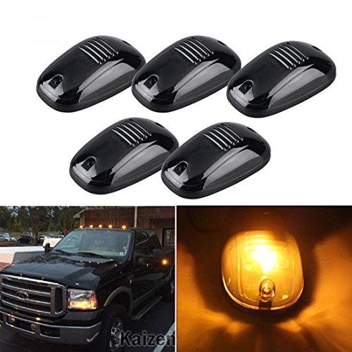 Kaizen 5PCS Schwarz Rauchglas-Linse weiß LED Cab Dach Top Marker Light Running Lights für Truck SUV 4x 4Lampe Farbe Weiß