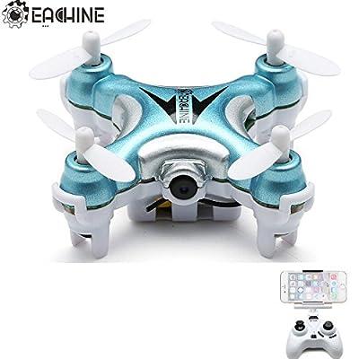 Hexnub EACHINE E10W Mini Wifi FPV Quadcopter Drone with HD Camera 2.4G 4CH 6 Axis LED Remote Control Nano Quadcopter RTF Mode 2 Hexnub