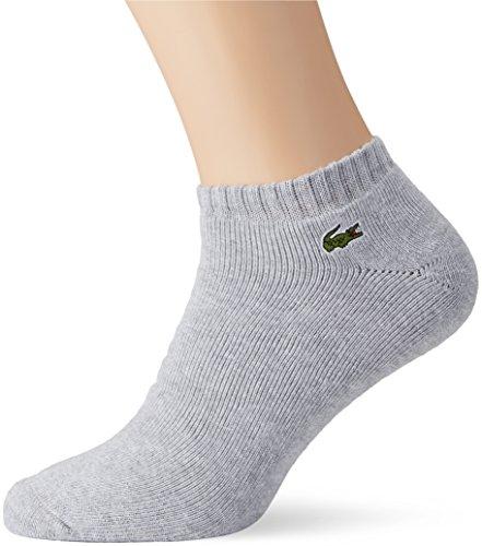 Lacoste Sport Herren Sportsocken Ra6315, Grau (Argent Chine/Blanc), 41-46 (Herstellergröße: 6) (Geschnitten Socken Knöchel Paar 6)