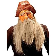 Máscara de vikingo con peluca, barba y casco antifaz barba ladrones enano látex traje medieval