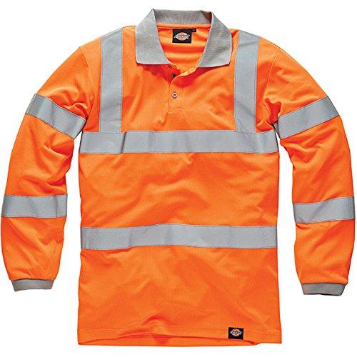 Dickies Kl2 SA2000 - Maglia segnaletica a maniche lunghe, colore: arancione, arancione, SA2000