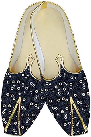 INMONARCH Hombres Boda Zapatos Marina Oscuro Patrón Paisley MJ017033