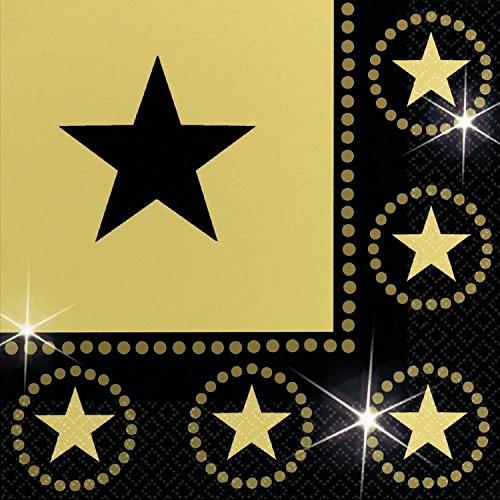 Servietten Golden Stars 32,7 cm 16er (Star Party Supplies)