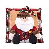 TEBAISE Frohe Weihnachten Party Dekorationen Weihnachtsmann Schneemann Familie Weihnachten Kissen Geschenk Festival Karneval