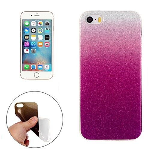 Wkae Case & Cover Pour iPhone 5 &5s &SE Housse de protection TPU IMD Couleur Fades Glitter Powder ( SKU : IP5G9966L ) IP5G9966N
