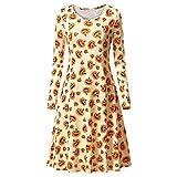 SamMoSon Damen Kleid Elegant Kleider Partykleider Retro Vintage Rockabilly Kleid Cocktailkleider Abendkleid Festlich Dress Minikleid Besticktes Tunika-Kleid