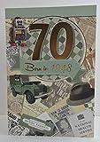 Geburtstagsgrusskarte für Männer zum 70. Geburtstag, mit Geburtsjahr 1948