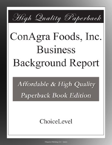 conagra-foods-inc-business-background-report