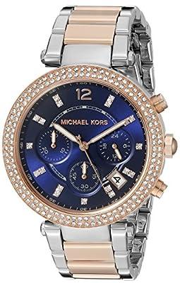 Michael Kors MK6141 - Reloj de cuarzo con correa de acero inoxidable para mujer, color azul