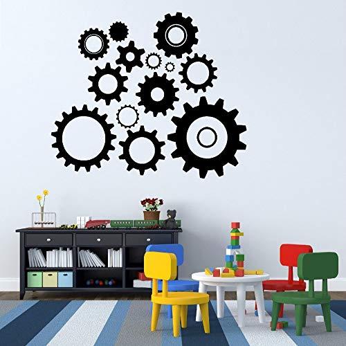 jiuyaomai Raddrehung Und Zeitgenössische Radmutter Vinyl Wandaufkleber Für Kindergarten Kinderzimmer Tapete Kunst Decals Home Murals schwarz 69X57 cm